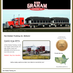 Screen shot of kgrahamtrucking.com. home page